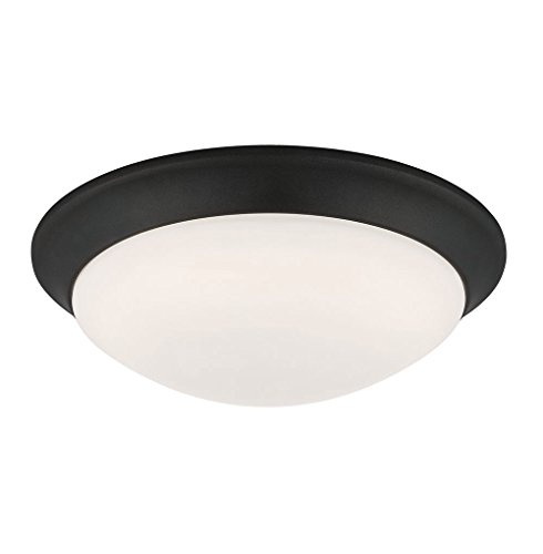 (Designers Fountain EVLED1022-34-DF Modern Satin Bronze LED Flush Mount with Frosted White Glass, 11