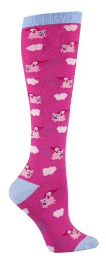 Flying Pigs Pink Knee High Socks