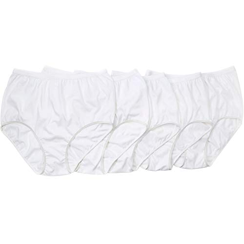 Comfort Choice Women's Plus Size 10-Pack Pure Cotton Full-Cut Brief - White Pack, 10