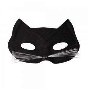 Accessorio Per Halloween Fantasia Gli Gatto Nero Abito Occhi Maschera Di tvwH0v