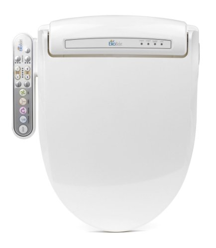 BioBidet Prestige BB-800 Round White Bidet Toilet Seat, Adjustable Warm Water, Self Cleaning, Side Panel, Posterior Feminine and Vortex Wash, Electric Bidet, Easy DIY Installation, 3 in 1 Nozzle, Power Save Mode is Eco Friendly by BioBidet