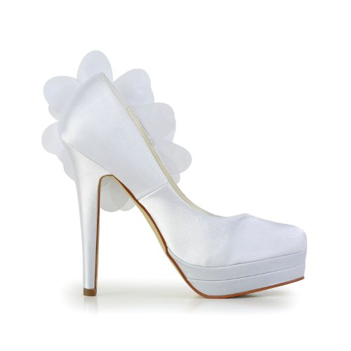Jia Jia Wedding 40931 Scarpe Sposa Scarpe col tacco donna Bianco, EU 39