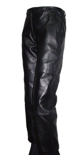 Paccilo Women 8007 PETITE Fashion Black Waist Leather Pants