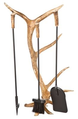 Mountain Mike's Reproductions Antler Fireplace Tool Set ()