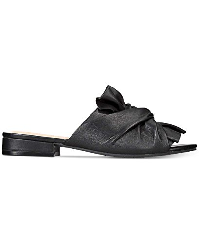 Kenneth Cole New York Womens Violet Leather Open Toe Casual Slide Sandals Black iJqkW