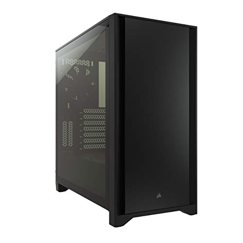 Corsair 4000D Tempered Glass Mid-Tower ATX Case (Solid Steel Front Panel, Tempered Glass Side Panel, RapidRoute Cable…