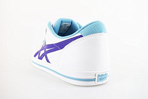 ONITSUKA TIGER sneakers mujer blanco púrpura cuero AH829