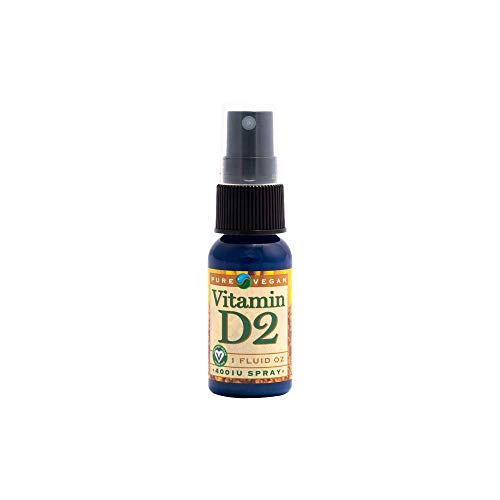 Pure Vegan Liquid Vitamin D2 Spray Vegan, 1 Ounce