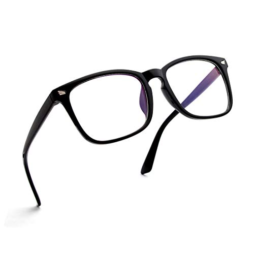 SIPU Unisex Stylish Square Non-prescription Eyeglasses Glasses Clear Lens Eyewear Frame ...