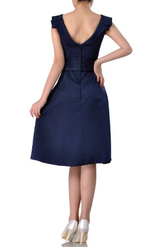 with straps Blue Adorona Dress Royal Sleeves Short Length Satin Knee Homecoming 6xw6CBq