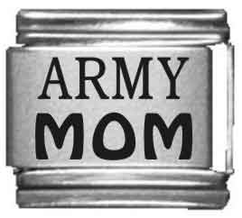 Army Mom Laser Italian Charm