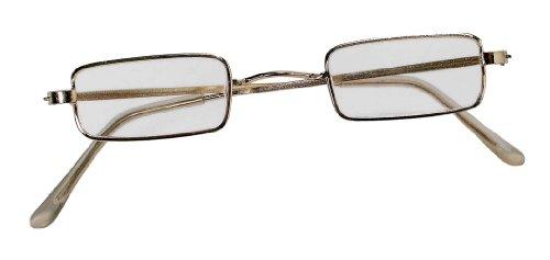 Forum Novelties Men's Square Novelty Glasses, Metallic, One Size (Planet Santa Costumes)