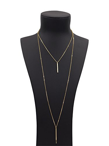 Boosic Multi layer Pendant Layered Necklace