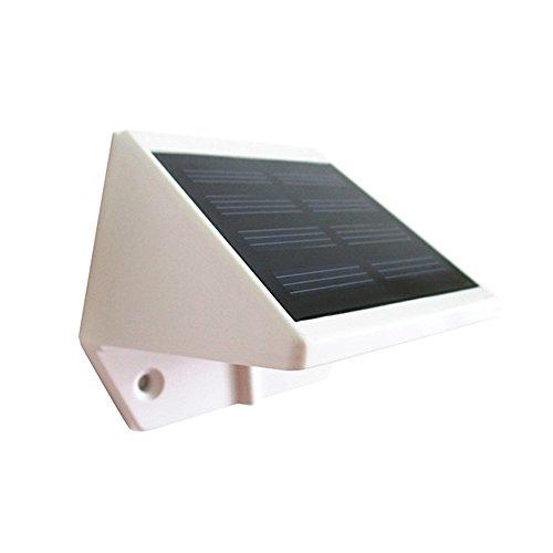 LIEYANG Solar Powered Outdoor Garden Wall Lamp 4 LED Bulbs Warm White