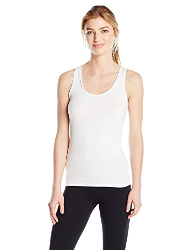 - Majestic Filatures Women's Alice Soft Touch Scoop Neck Tank, White, 2