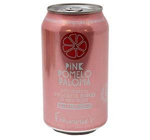Frannie's Sparkling Beverage- Zero Calories & Sugar, Aspertame Free: Your Choice of Seven Different Flavors- 8/12 oz. Cans (Pink Pomelo Paloma)