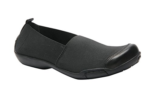 (Ros Hommerson Caruso Women's Casual Shoe: Black/Stretch 9 X-Wide (2E) Slip-On)