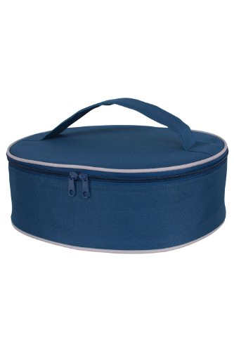 KAF Home Portable Insulated Pie Carrier, Navy Blue, 3.5 x 11.5 x 10.75-Inches
