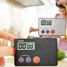 Portable Credit Card Size Digital LCD Timer Kitchen Study Kitchen Cooking
