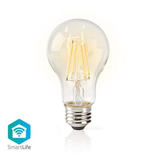 Nedis Dimbare Smartlife gloeidraad lamp – E27 – 500 lm – 5 W – dimbaar wit / warm wit – 2700 K – glas – energieklasse: A…