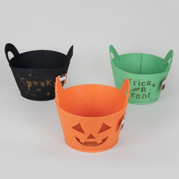Set of 12 Themed Halloween Treat Bags! 3 Bright and Beautiful Colors - 6