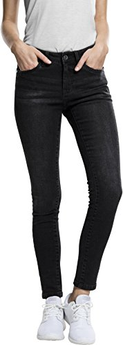Urban Classics Ladies Denim Pants, Vaquero Skinny para Mujer Schwarz (Black Washed 709)