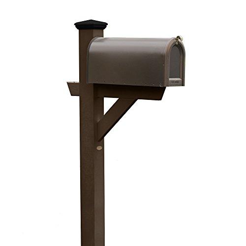 Highwood Hazleton Mailbox Post, Weathered Acorn
