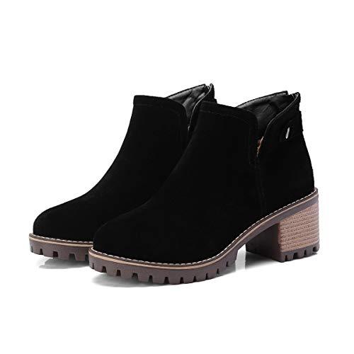 Largo Black Stivaletti Basso Boots Tacco Donna Alti E Con Da Women's 4BZ0SqPZ