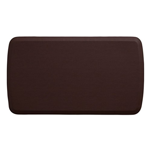 "GelPro Elite Premier Anti-Fatigue Kitchen Comfort Floor Mat, 20x36"", Vintage Leather Sherry Stain Resistant Surface with therapeutic gel and energy-return foam for health & wellness by GelPro"