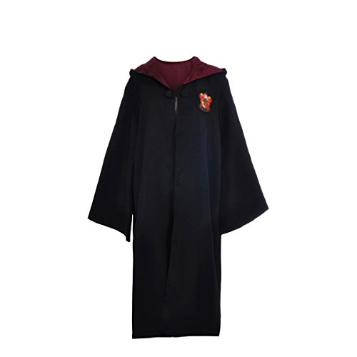 YAHUIPEIUS Adult Costume Robe Hooded Cloak With Gryffindor Emblem by (L)