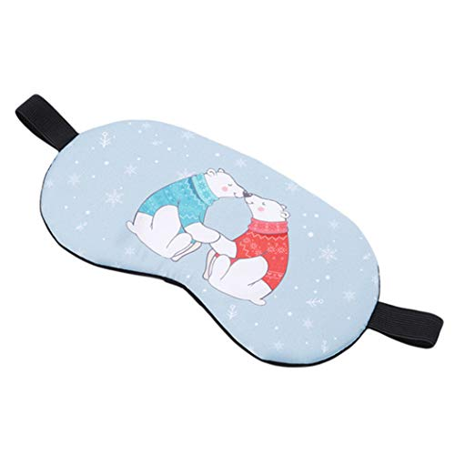 LZIYAN Cartoon Sleep Eye Mask Breathable Cute Animal Pattern Sleeping Mask Travel Sleeping Blindfold Nap Cover Gift For Everyone,Two bears by LZIYAN (Image #3)