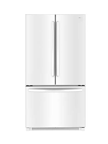 Daewoo RFS-26ABW French Door Bottom Mount Refrigerator, 26 Cu Ft, White