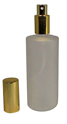 - 4 Ounce (120 ml) Frosted Glass Empty Refillable Replacement Glass Perfume or Cologne Bottle with Spray Applicator (EB15)