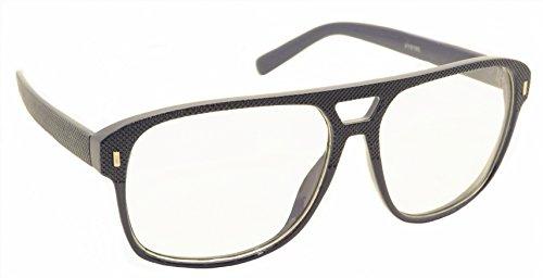 [FancyG® Vintage Fashion Style Metal Hinge Clear Lens Glasses Frame Unisex Eyewear - Dark Blue] (Funny Weird Halloween Costumes)