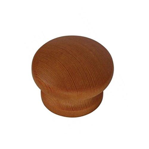 /Pack de 6 Bulk Hardware BH03820 35/mm con orificios para tornillos/ /Pomos de armario para puerta y cajones de madera sin lacar