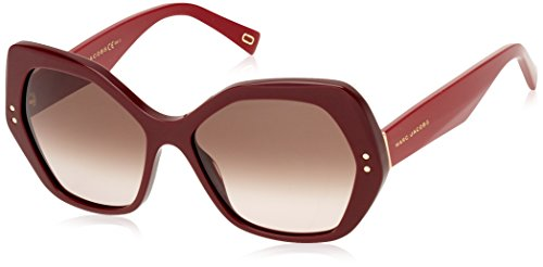 Marc Jacobs Marc117/S OPE Burgundy Marc117/S Butterfly Sunglasses Lens - Jacobs Marc Sunglasses Red