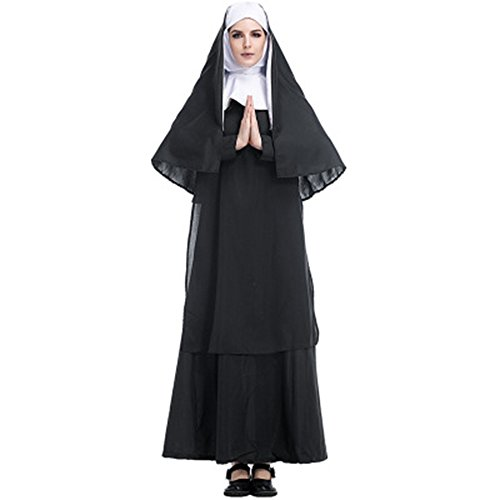 NoveltyBoy Halloween Costume Jesus Christ Missionary Pastor Service Maria Priest Nuns (The Town Nun Halloween Costume)