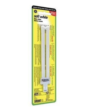 Ge Cfl Single Biax 2 Pin Plug Bulb 7.0 In. 100 W Equiv, 13 W 825 Lumens 2700 K 82 Cri Esr -