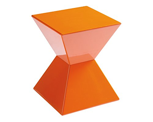 Sunpan Modern Rocco End Table, Orange