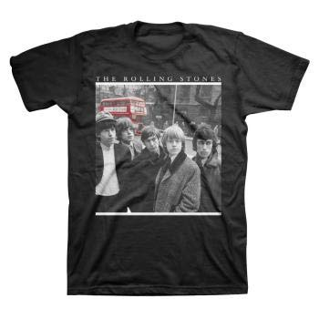- The Rolling Stones Group Photo w Red Bus T-shirt - Black (Small)
