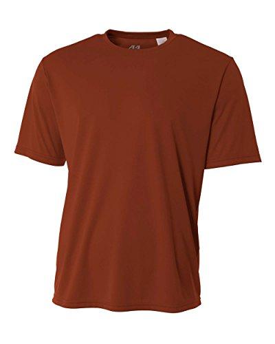 Du Refroidissement Orange Cou T A4 Manches Ras nbsp;youth Courtes Arancione shirt texas Performance Yq74R