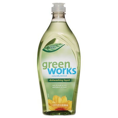 Green Works Dishwashing Liquid, Original Fresh, 22 oz Squeeze Bottle, 6/Carton (Performance Bottle 22 Ounce)