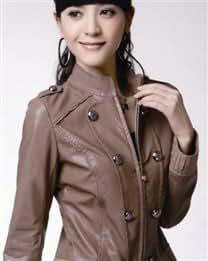 Women Long Sleeve Stand Collar Rhinestone Jackets