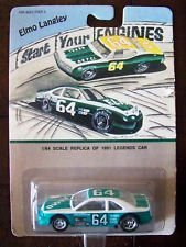 Hot Wheels - Elmo Langley - Start Your Engines - 1991 Legends Car (#64) - Ford - 1:64 Scale Replica - Turquoise & White Body (1991 Legends)