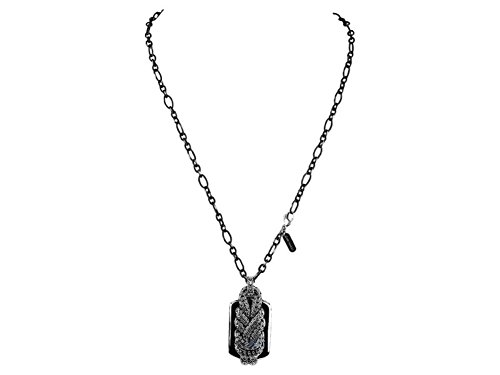 - John Hardy STERLING SILVER MERMAID WHEAT CHAIN DOG TAG NECKLACE 22