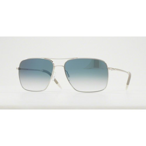 Oliver Peoples Unisex Clifton Silver/Chrome Saphire Photochromic ()