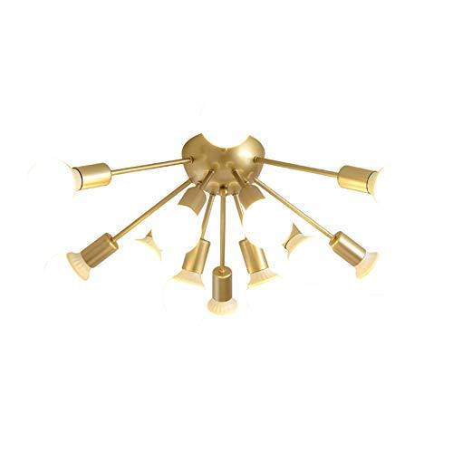 HYYK Sputnik Chandelier, 12 Head Wrought Iron Pendant Lights Modern Ceiling Lamp Bedroom Living Room Dining Room Cafe Decoration Lamps, 110-220v, Gold