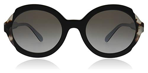 Prada PR17US KHR0A7 Black/Azure/Brown PR17US Oval Sunglasses Lens Category ()