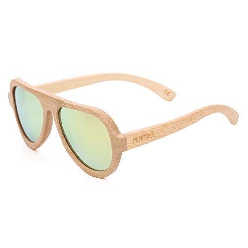 Mini Tree Handmade Bamboo Sunglasses Front Design Polarized Glasses With Bamboo Case (Bamboo, - Sunglasses Front