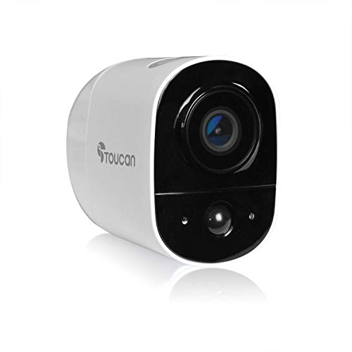 🥇 TOUCAN Rechargeable Battery-Powered Wireless Outdoor Security Camera with Alexa Support